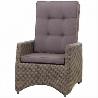 Siena Garden Lounge Sessel / Positionssessel Teramo Polyrattan bronze Bild 1