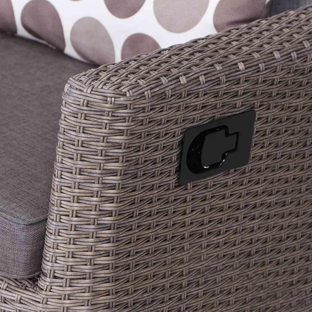 Siena Garden Lounge Sofa / Move Bank Teramo Polyrattan bronze Bild 2