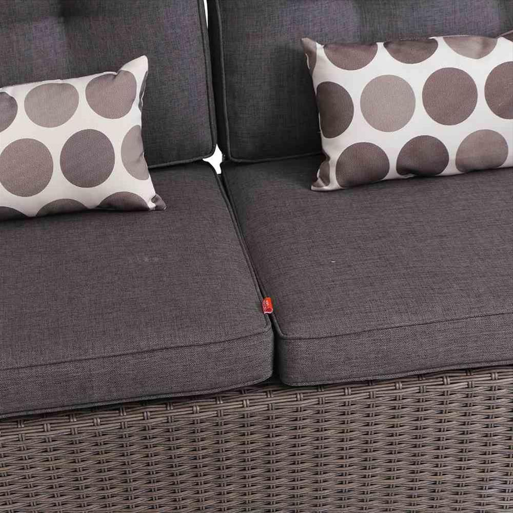 Siena Garden Lounge Sofa / Move Bank Teramo Polyrattan bronze Bild 3