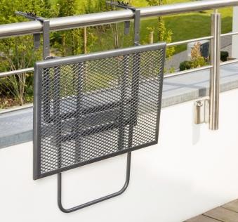 Balkontisch / Hängetisch Toulouse 60x40cm Streckmetall eisengrau Bild 2