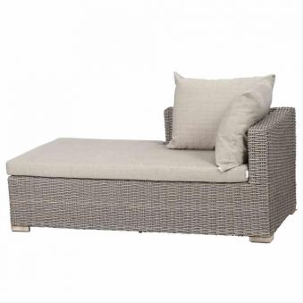 Siena Garden Lounge Liege / Recamiere Veneto Polyrattan sepia Bild 1