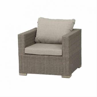 Siena Garden Lounge Sessel / Gartensessel Veneto Polyrattan sepia Bild 1