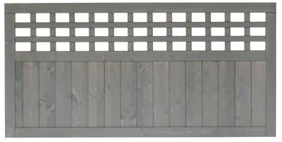 sichtschutz zaun fehmarn zaunelement fichte grau lasiert. Black Bedroom Furniture Sets. Home Design Ideas