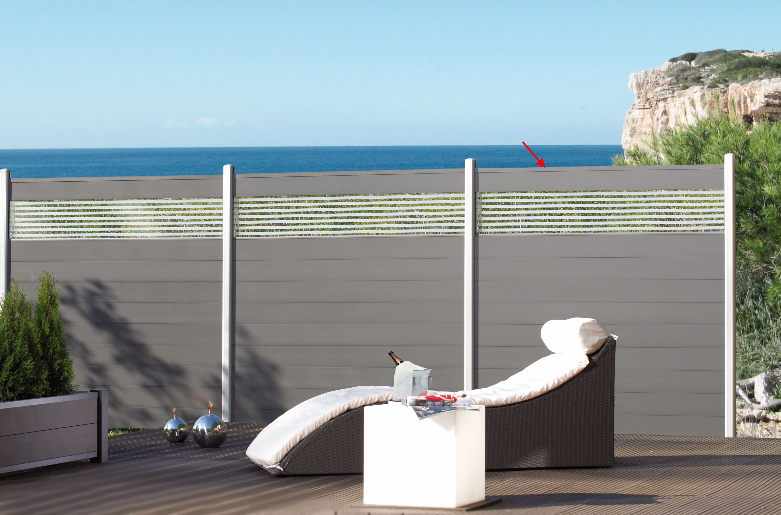 Roller Gartenmobel Rattan : Sichtschutzzaun System Alu Classic ZaunfeldSet anthrazit 178x181cm