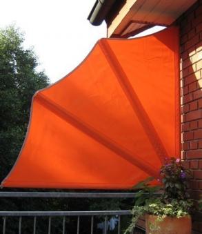 Leco Balkonfächer Sichtschutz / Sonnenschutz / Windschutz orange Bild 1