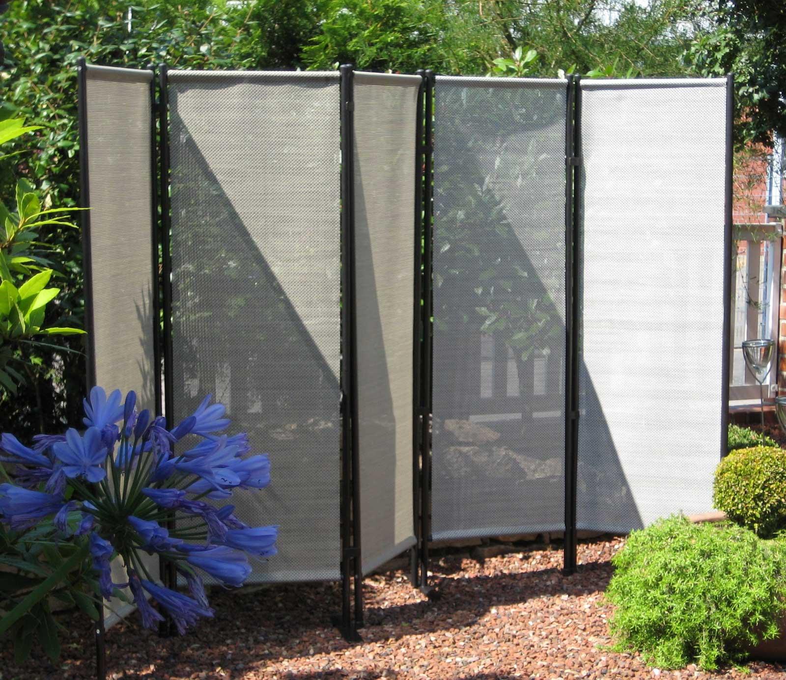 paravent grau paravent with paravent grau balkontex mobiler sichtschutz tlg spanische wand. Black Bedroom Furniture Sets. Home Design Ideas
