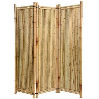 Sichtschutz / Paravent Bambus Noor 1,8x1,8m natur Bild 1