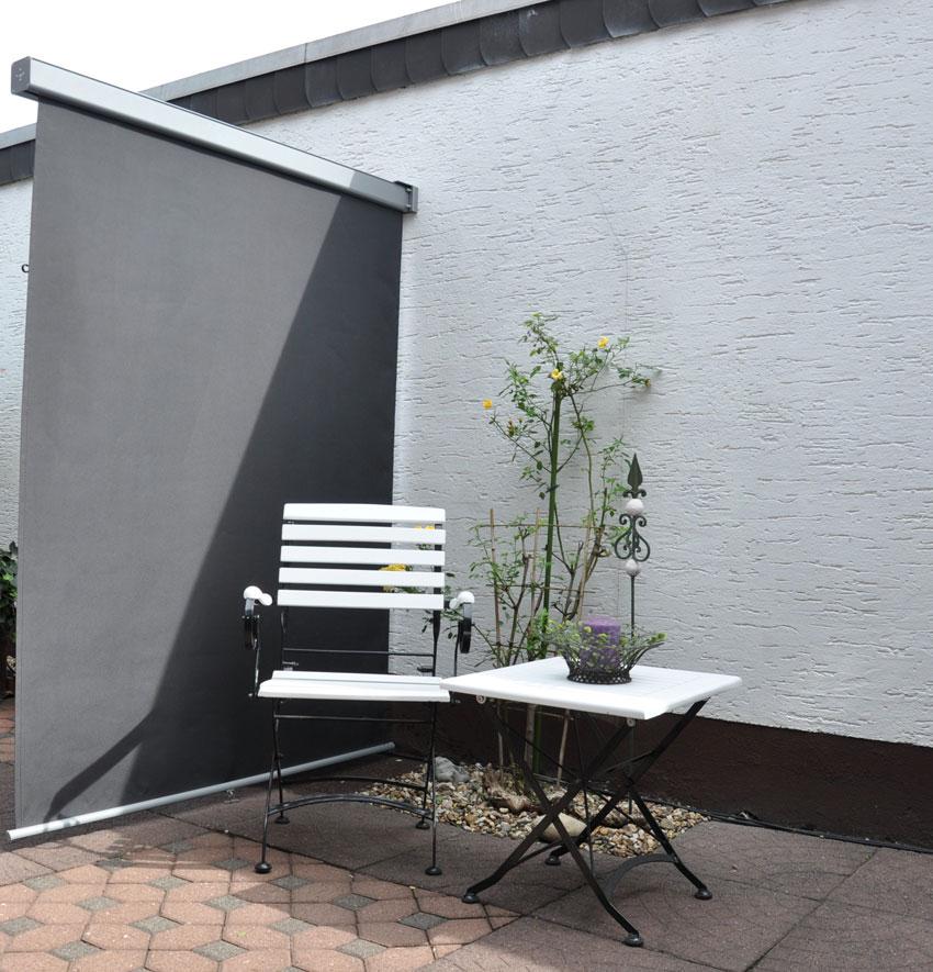sichtschutz windschutz leco balkonmarkise 150cm anthrazit bei. Black Bedroom Furniture Sets. Home Design Ideas