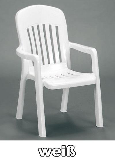 sieger gartensessel stapelbar comtesse wei kunststoff. Black Bedroom Furniture Sets. Home Design Ideas