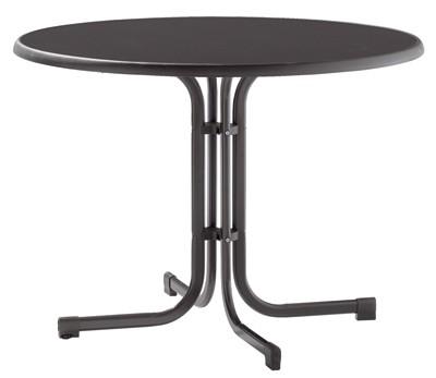 sieger gartentisch klapptisch 100cm stahl grau mecalit anthrazit bei. Black Bedroom Furniture Sets. Home Design Ideas