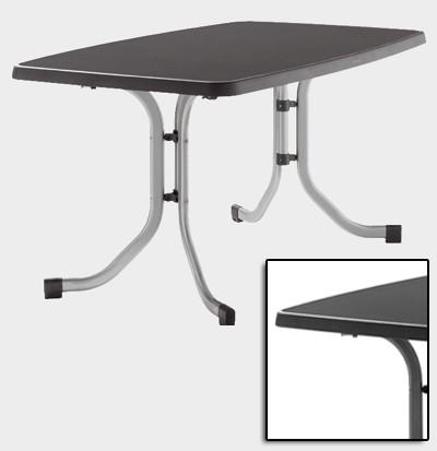 sieger gartentisch klapptisch 150x90cm stahl grau mecalit anthrazi bei. Black Bedroom Furniture Sets. Home Design Ideas