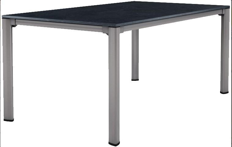 SIEGER Gartentisch / Lofttisch Puroplan 165x95cm grau / anthrazit Bild 1