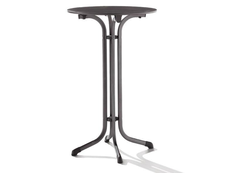 stehtisch bartisch puroplan klappbar 68cm stahl grau. Black Bedroom Furniture Sets. Home Design Ideas