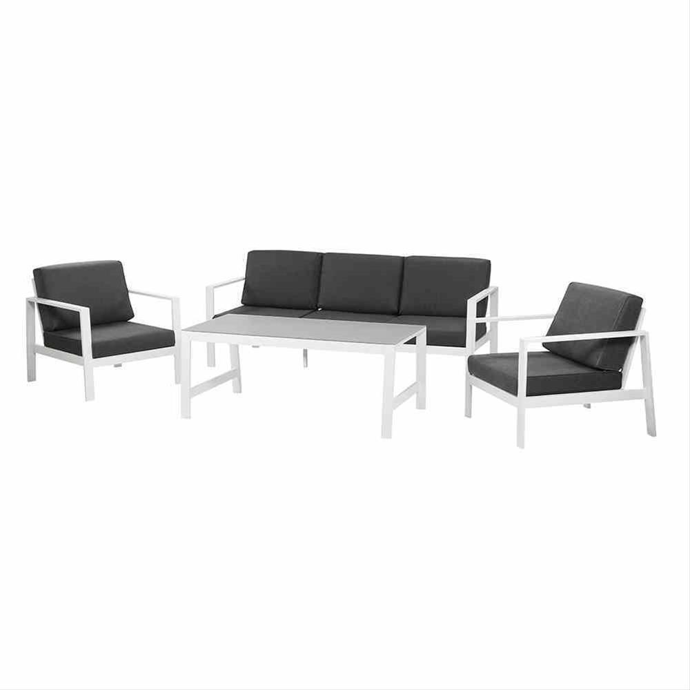 Aluminium Loungemöbel Set Siena Garden Sarah 4-teilig weiß/anthrazit Bild 1