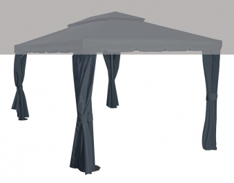 Ersatz Seitenteile zu Siena Garden Pavillon Dubai grau 4 Stück Bild 1