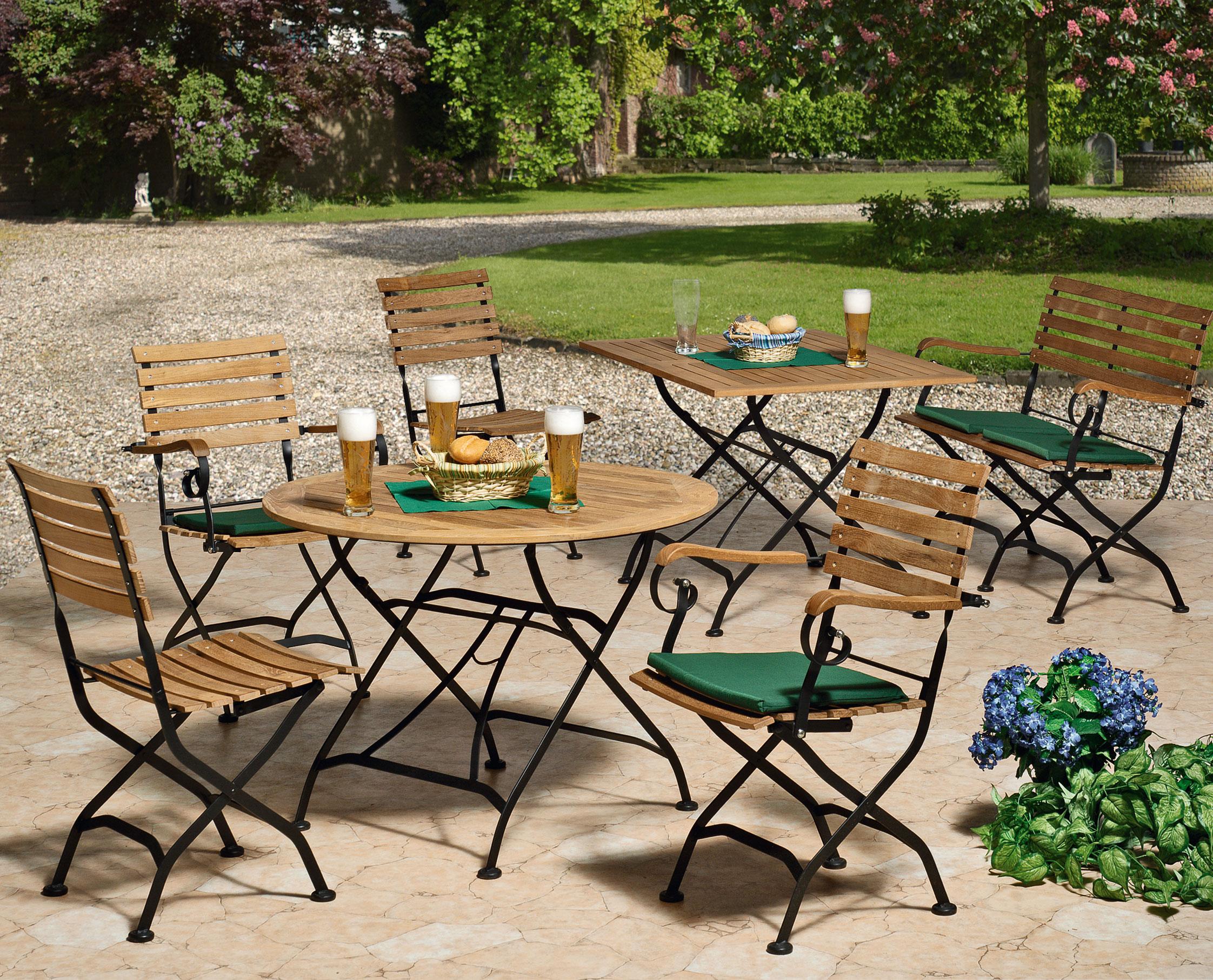 gartenbank biergartenm bel klappbar peru ii 2 sitzer teakholz stahl bei. Black Bedroom Furniture Sets. Home Design Ideas