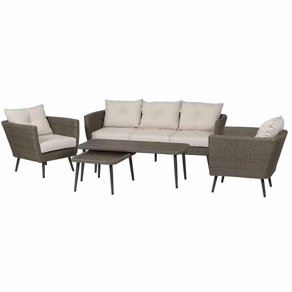 Gartenmöbel Gruppe Siena Garden Lounge-Set Vertigo 5-tlg Polyrattan ...