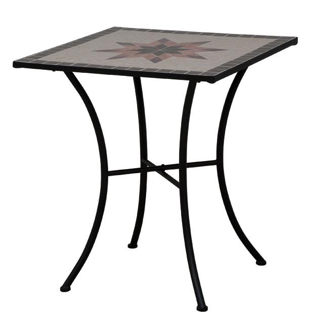 gartentisch balkontisch stella 64x64cm eisen schwarz. Black Bedroom Furniture Sets. Home Design Ideas