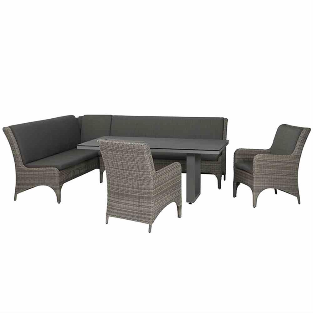 Lounge Modul Siena Garden Calado 3-Sitzer links Polyrattan taupe Bild 3