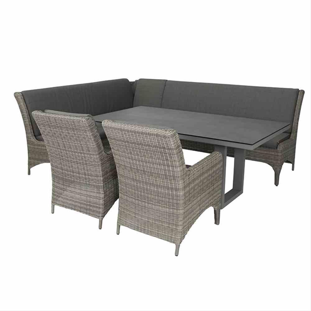 Lounge Modul Siena Garden Calado 3-Sitzer links Polyrattan taupe Bild 4