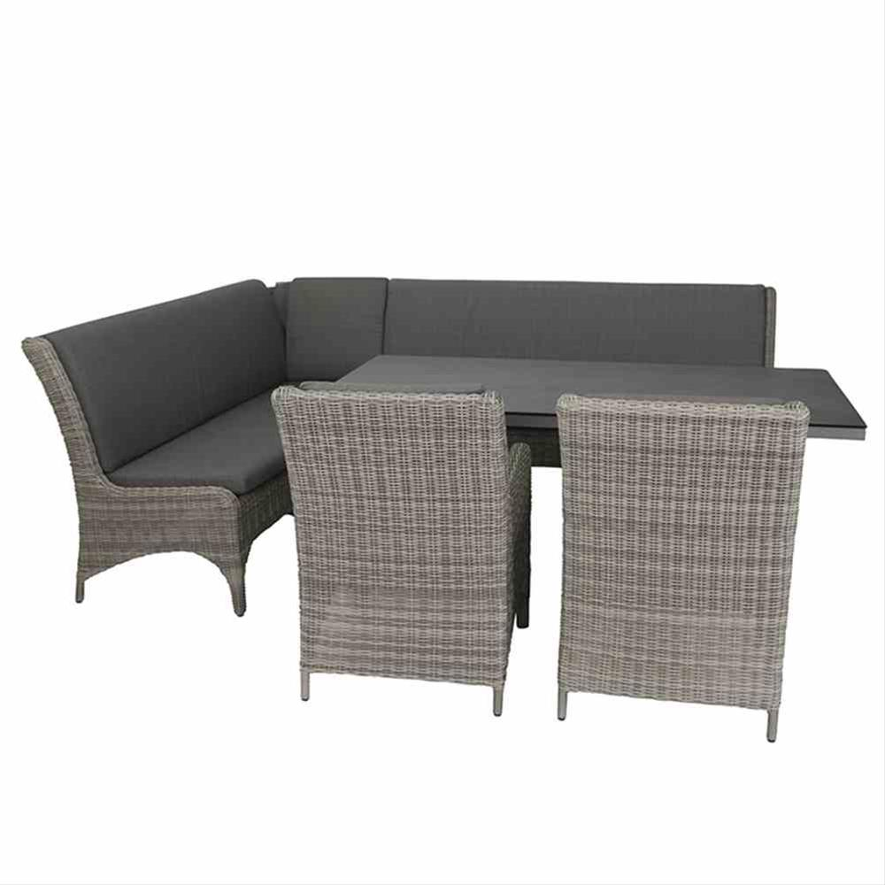 Lounge Modul Siena Garden Calado 3-Sitzer links Polyrattan taupe Bild 5