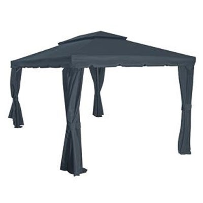 pavillon gartenpavillon dubai 300 x 400 cm anthrazit grau alu bei. Black Bedroom Furniture Sets. Home Design Ideas