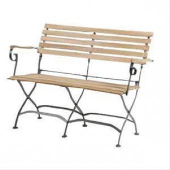 Siena Garden Gartenbank Biergartenmöbel klappb. Peru II 2-Sitzer Teak Bild 1
