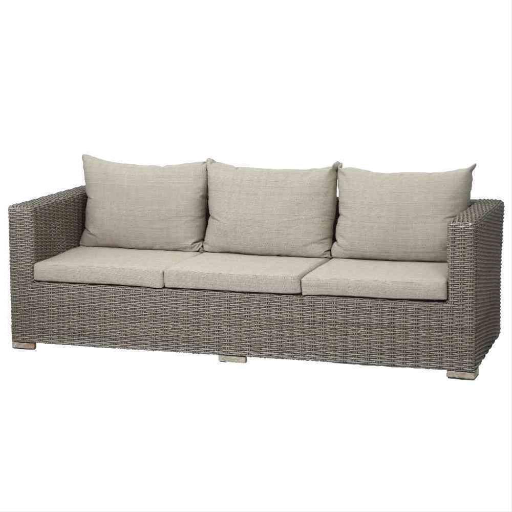 Siena Garden Lounge Sofa / 3er Bank Veneto Polyrattan sepia - bei ...