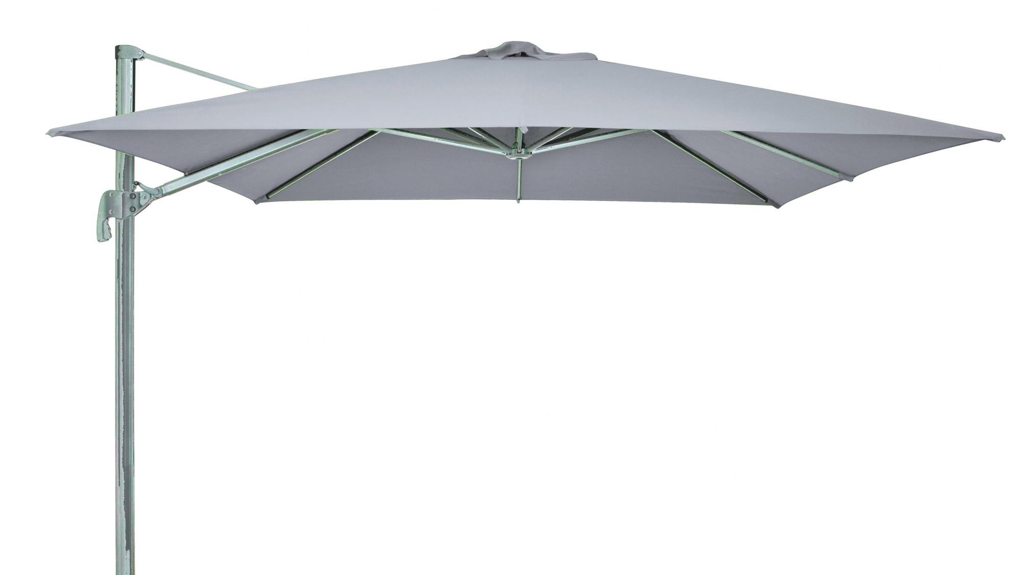 ampelschirm sonnenschirm derby ravenna 300x300cm d927 grau bei. Black Bedroom Furniture Sets. Home Design Ideas