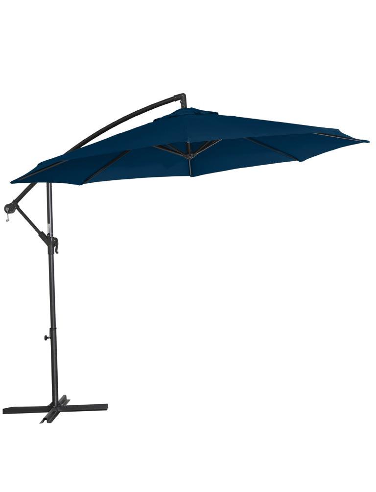 ampelschirm sonnenschirm klassik 300 cm grau blau bei. Black Bedroom Furniture Sets. Home Design Ideas