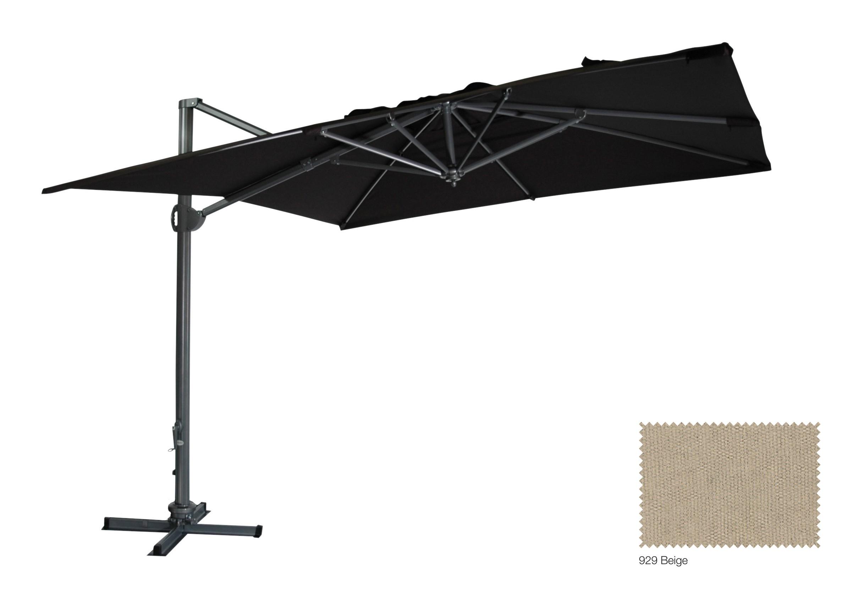 ampelschirm sonnenschirm zangenberg monte carlo 300x300cm natur 929 bei. Black Bedroom Furniture Sets. Home Design Ideas