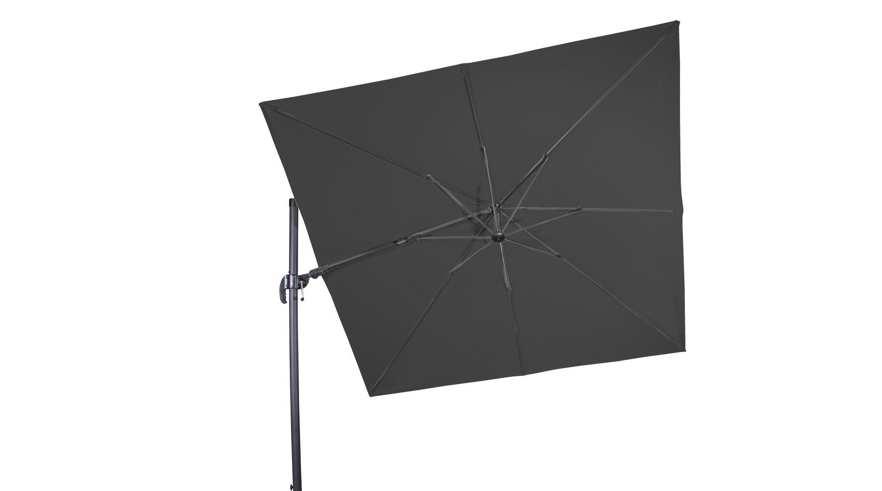 Derby Ampelschirm / Pendelschirm Ravenna AX 275x275cm D840 anthrazit Bild 1