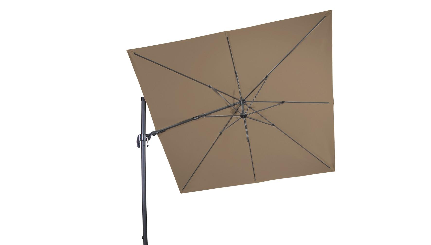 Derby Ampelschirm / Pendelschirm Ravenna AX 275x275cm D846 greige Bild 1