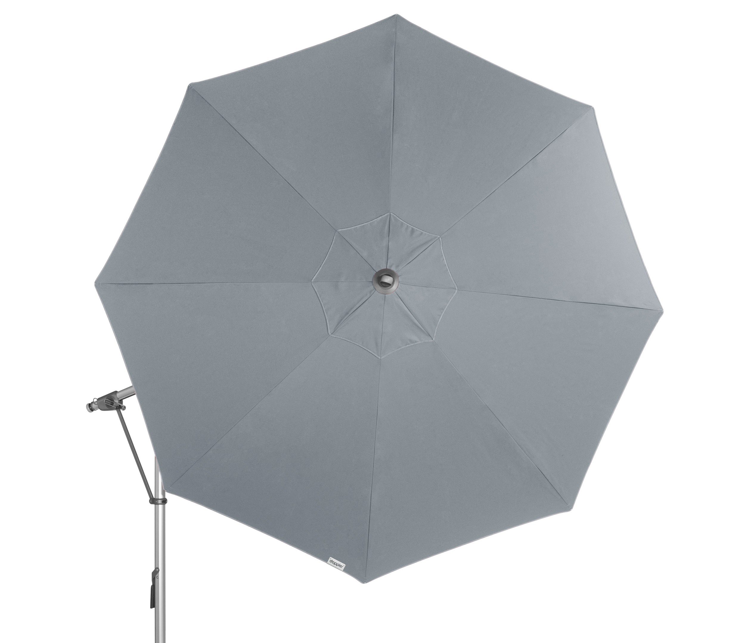 Doppler Ampelschirm / Pendelschirm Expert 350cm Des. T827 hellgrau Bild 5