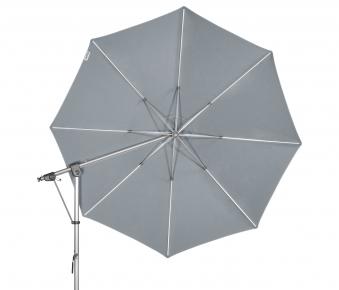 Doppler Ampelschirm / Pendelschirm Expert 350cm Des. T827 hellgrau Bild 7