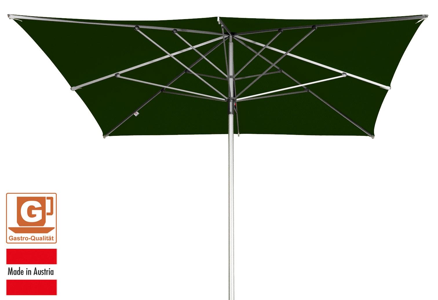 Großschirm / Sonnenschirm Doppler Alu Expert 300x300cm dunkelgrün Bild 1