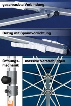 Großschirm / Sonnenschirm Doppler Alu Expert 350x350cm dunkelgrün Bild 2