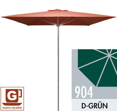 Großschirm / Sonnenschirm Doppler Gastro Clip 300x300cm D. 904 d-grün Bild 1