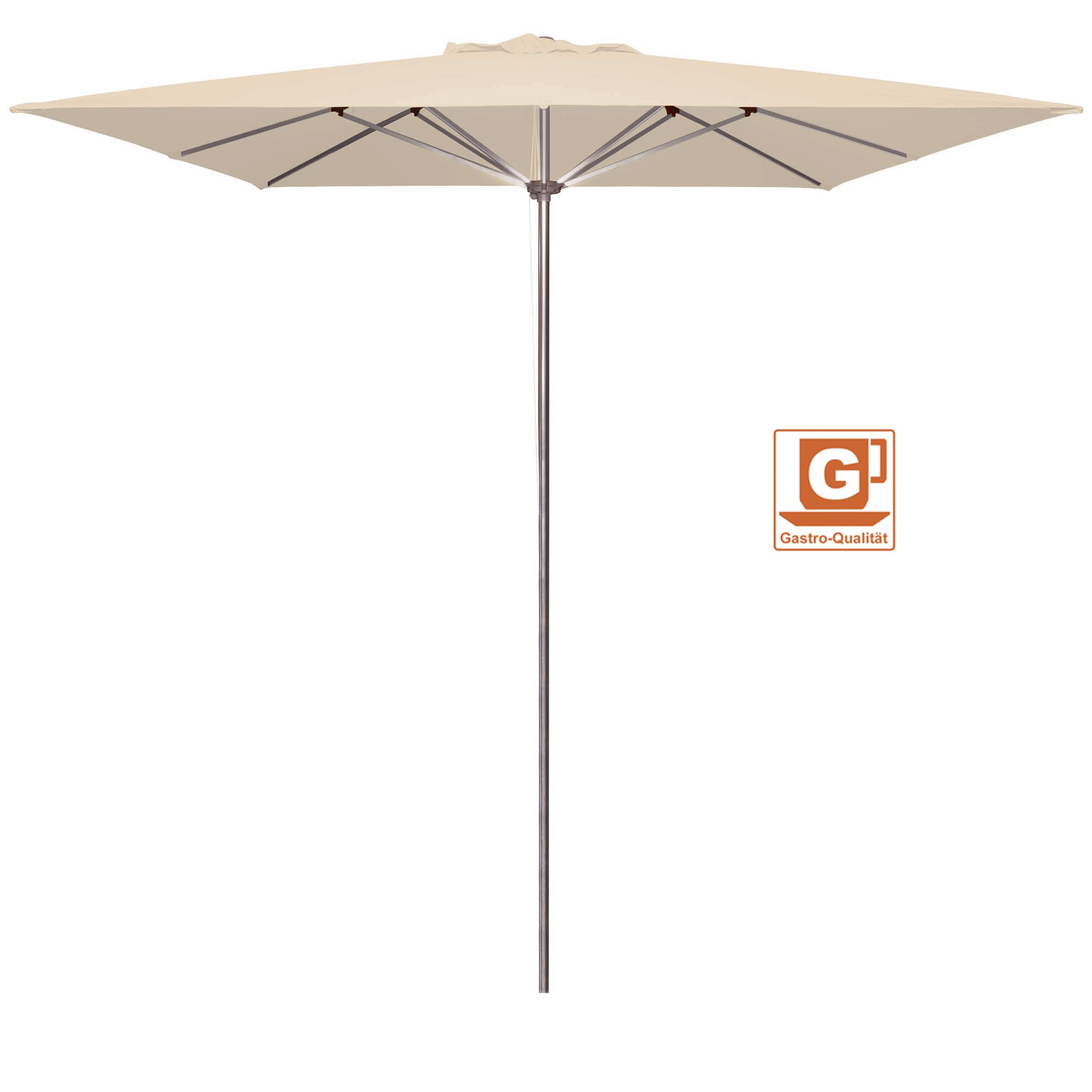 Großschirm / Sonnenschirm Doppler Gastro Clip 300x300cm Des. 900 natur Bild 1