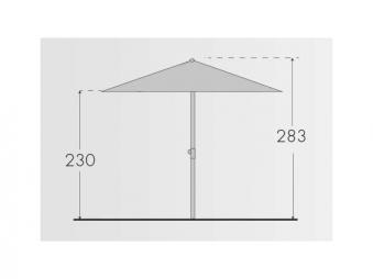 Großschirm / Sonnenschirm Doppler Gastro Clip 300x300cm Des. 900 natur Bild 3
