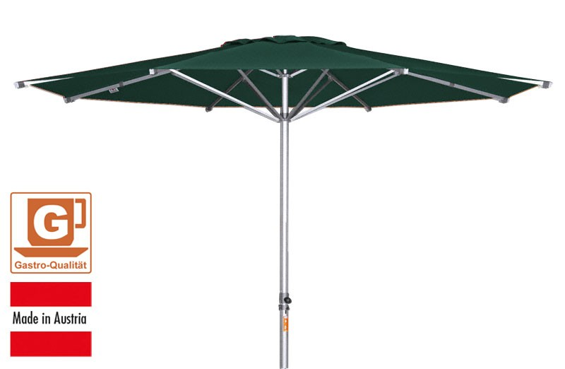 gro schirm sonnenschirm doppler alu expert 400cm dunkelgr n bei. Black Bedroom Furniture Sets. Home Design Ideas