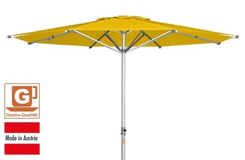 gro schirm sonnenschirm doppler alu expert 400cm gelb bei. Black Bedroom Furniture Sets. Home Design Ideas
