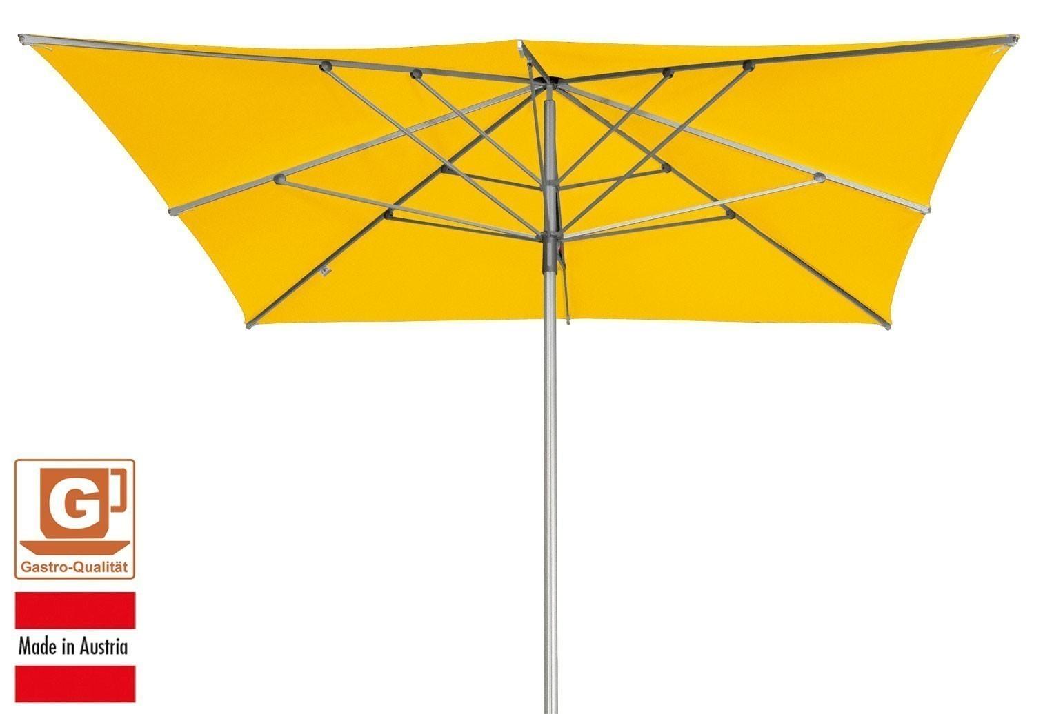 gro schirm sonnenschirm doppler alu expert 350x350cm gelb bild 1. Black Bedroom Furniture Sets. Home Design Ideas