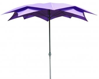 Leco Sonnenschirm / Gartenschirm Blüte Ø 270 cm violett Bild 1