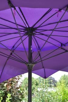 Leco Sonnenschirm / Gartenschirm Blüte Ø 270 cm violett Bild 2
