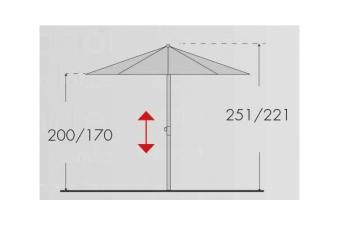 Sonnenschirm / Gartenschirm Doppler Expert auto tilt Ø280 D846 greige Bild 5