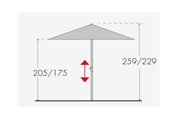 Sonnenschirm Gartenschirm Doppler Expert auto tilt 300x200 D831 terra Bild 4