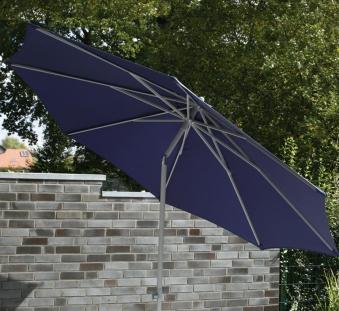 Sonnenschirm / Gartenschirm Siena Garden Push Up 8-teilig Ø300cm blau Bild 1