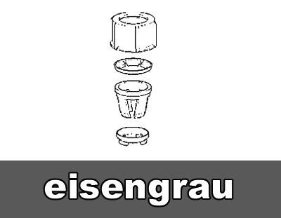 Überwurfmutter mit Adapterset für Schirmstöcke Ø 18 - 38 mm grau Bild 1