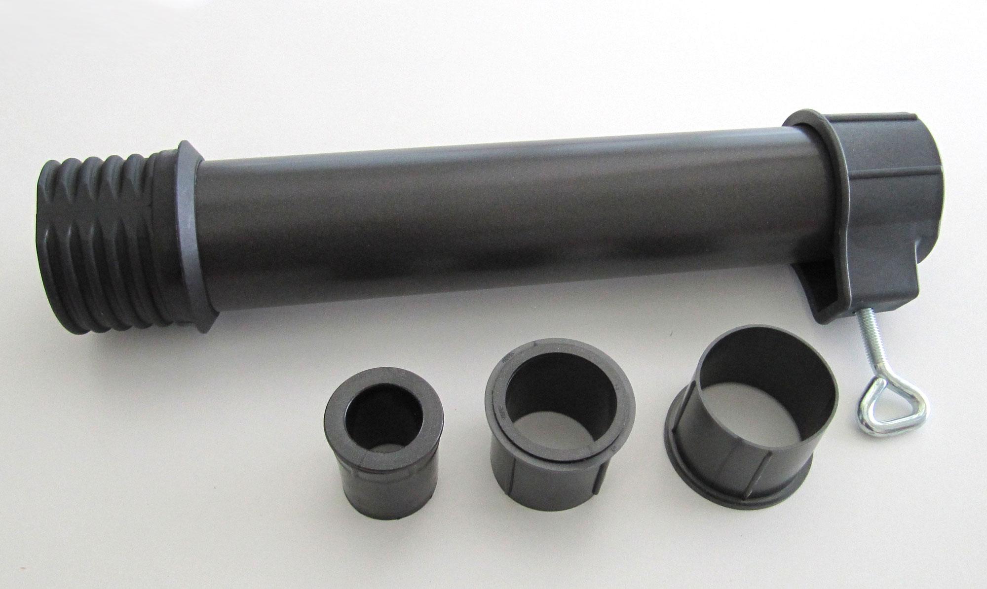Aluminiumrohr Set 5-fach Adapter für Schirmstöcke Ø 26 - 56 mm grau Bild 1
